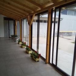 ALU klizni sistem-zatvaranje terase