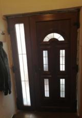 Pvc dvokrilna ulazna vrata-braon boja